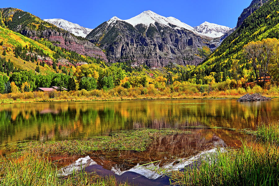 Colorado Photograph - Rocky Mountain Reflections - Telluride - Colorado by Jason Politte
