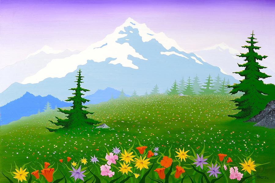 Rocky Mountains Painting - Rocky Mountain Spring by Larissa Holt