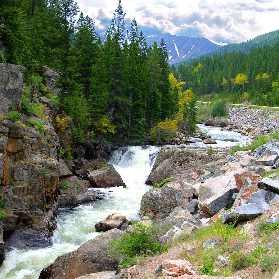 Landscape Photograph - Rocky Mountain Stream by John Lautermilch