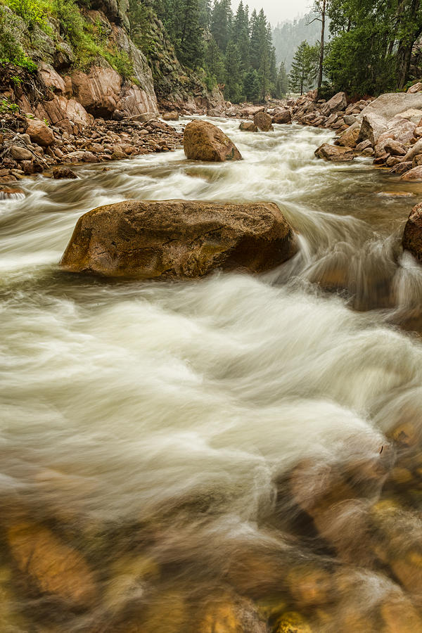 Rocky Mountain Streaming Photograph