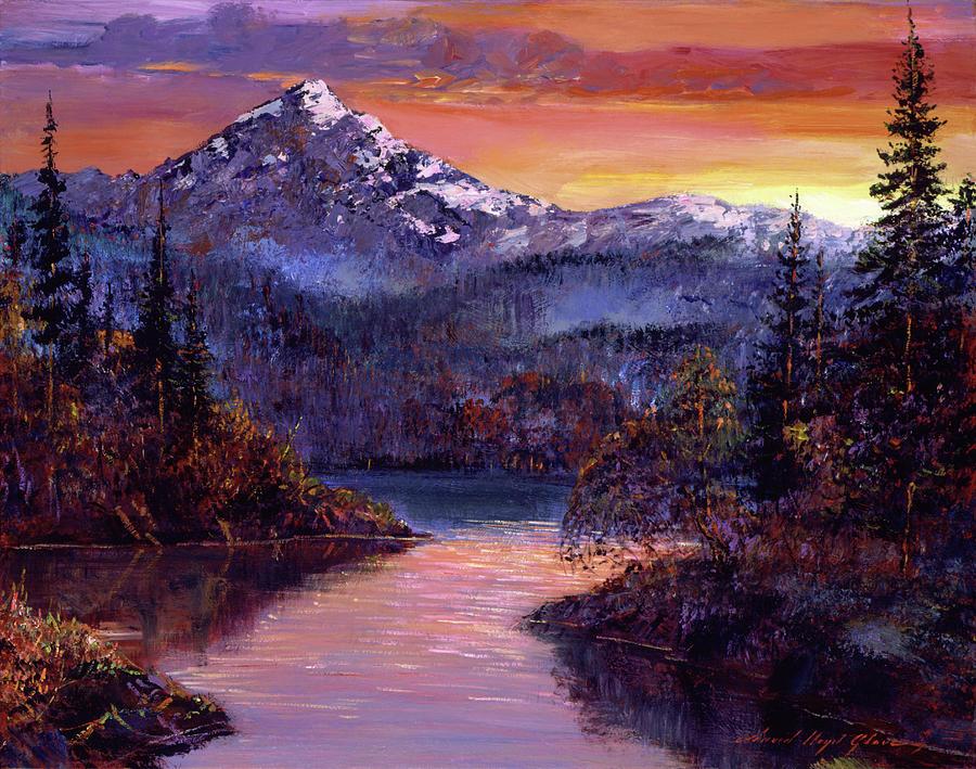 Rocky Mountain Sunset Painting