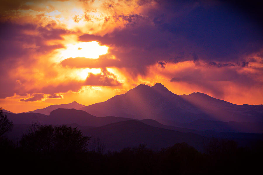 Rocky Mountain Sunset Photograph By James Bo Insogna