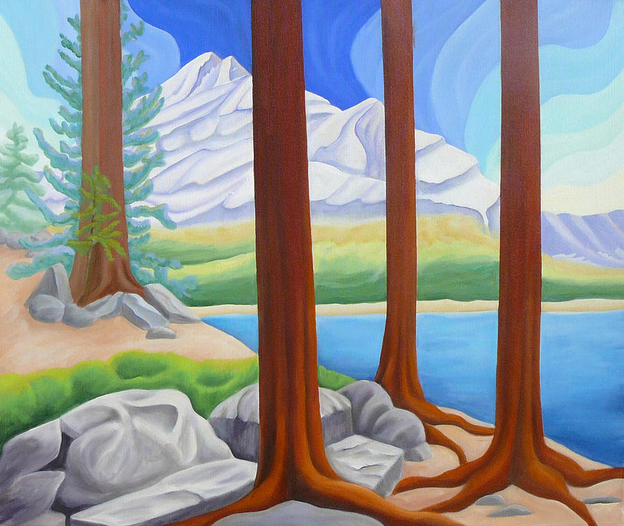 Landscape Painting - Rocky Mountain View 1 by Lynn Soehner
