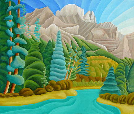 Landscape Painting - Rocky Mountain View 2 by Lynn Soehner