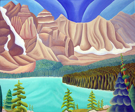 Landscape Painting - Rocky Mountain View 3 by Lynn Soehner