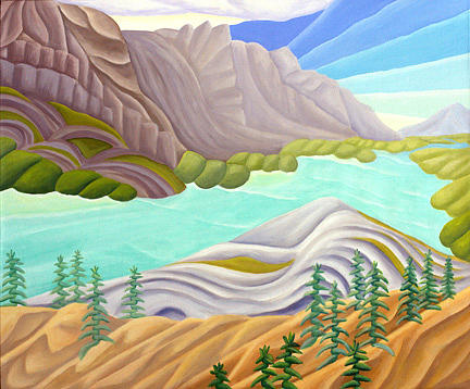 Landscape Painting - Rocky Mountain View 6 by Lynn Soehner