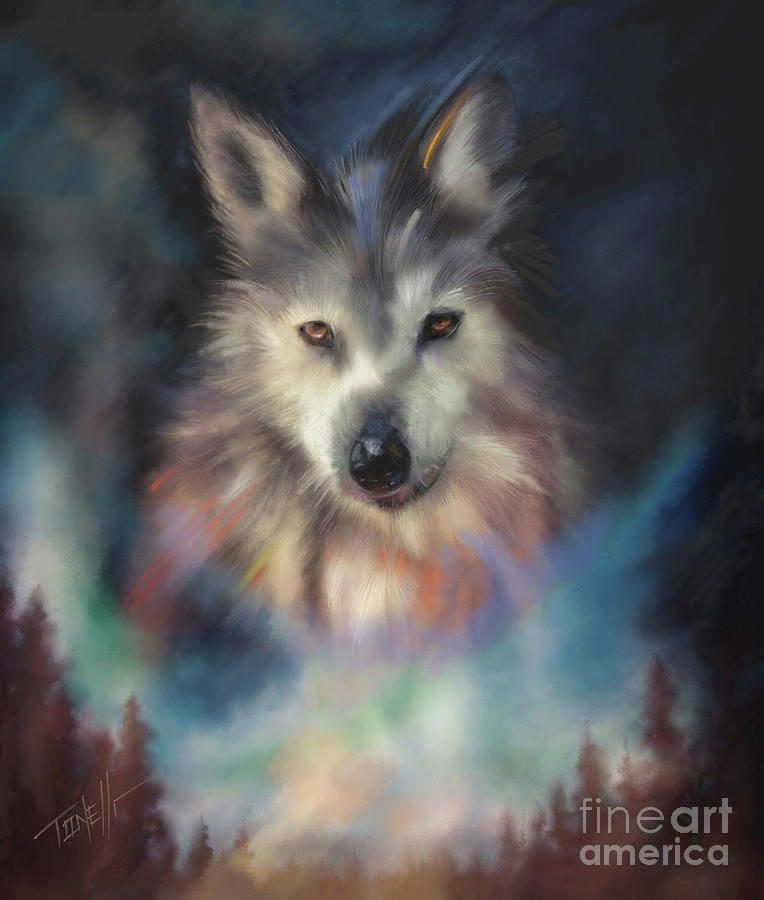 Rocky Mountain Wolf Series Mixed Media