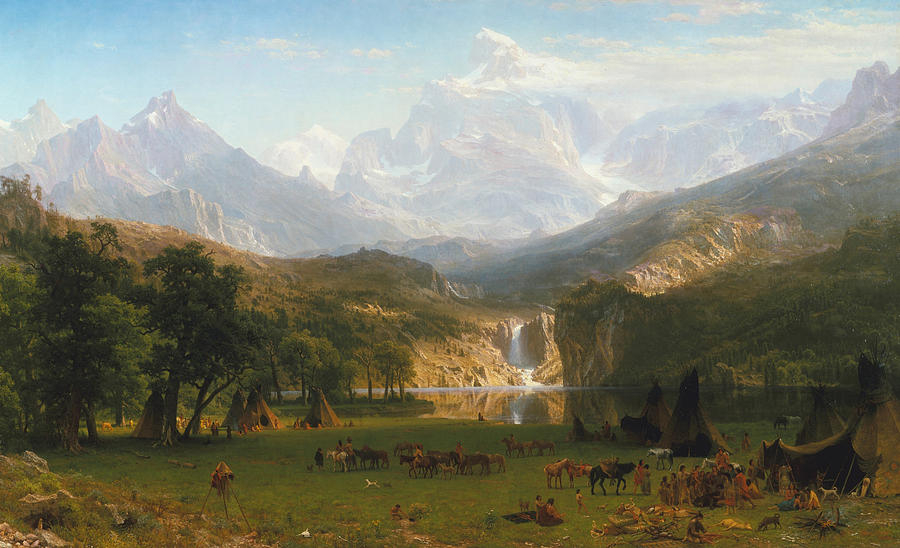 Rocky Mountains Painting - Rocky Mountains by Albert Bierstadt