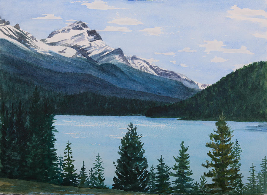Rocky Mountains Painting - Rocky Mountains by Debbie Homewood