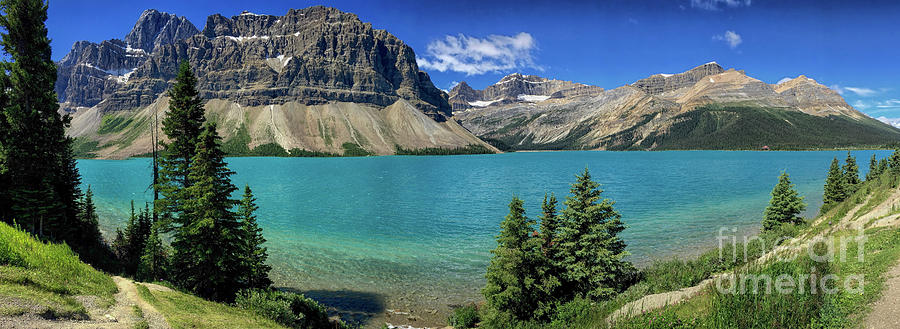 Mountain Photograph - Rocky Mountains Panorama by Patricia Hofmeester