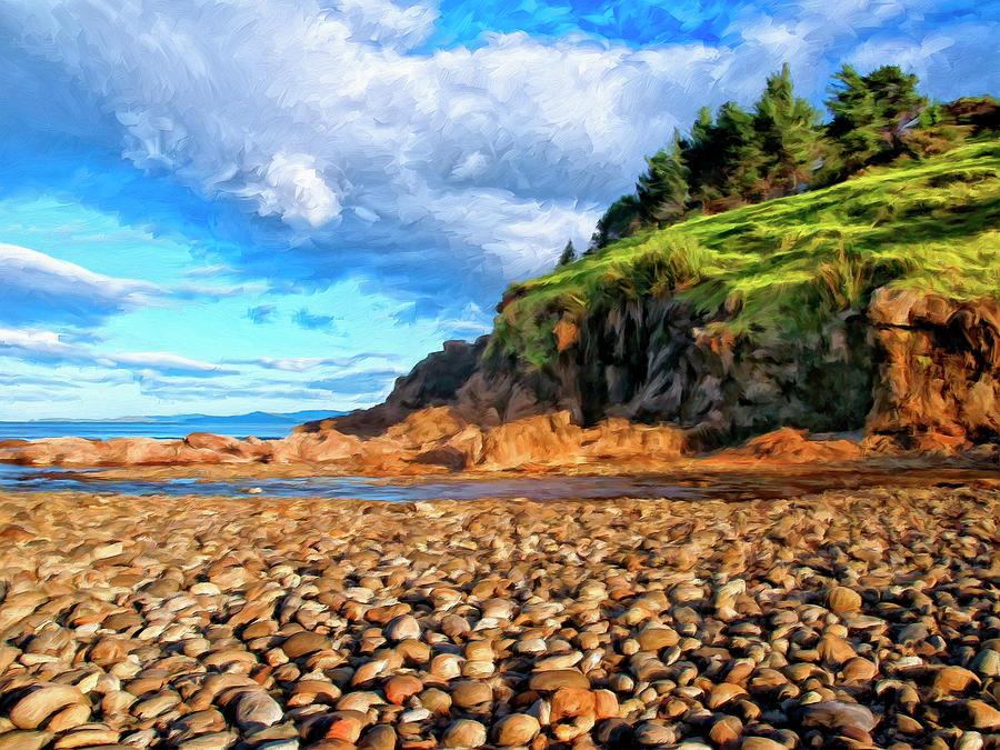 Oregon Coast Painting - Rocky Oregon Beach by Dominic Piperata