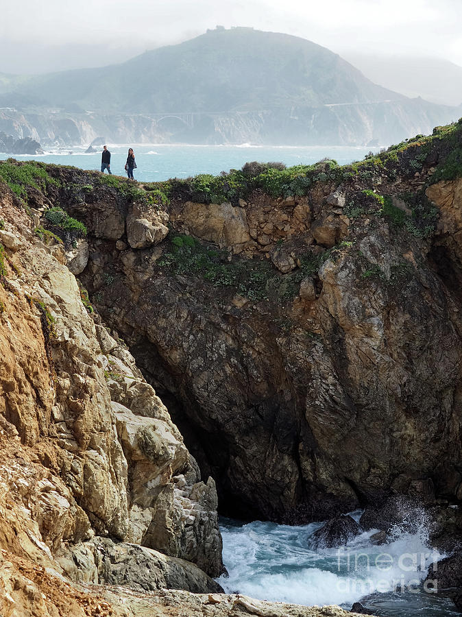 Rocky Point Hikers, Big Sur, California #30377 by John Bald