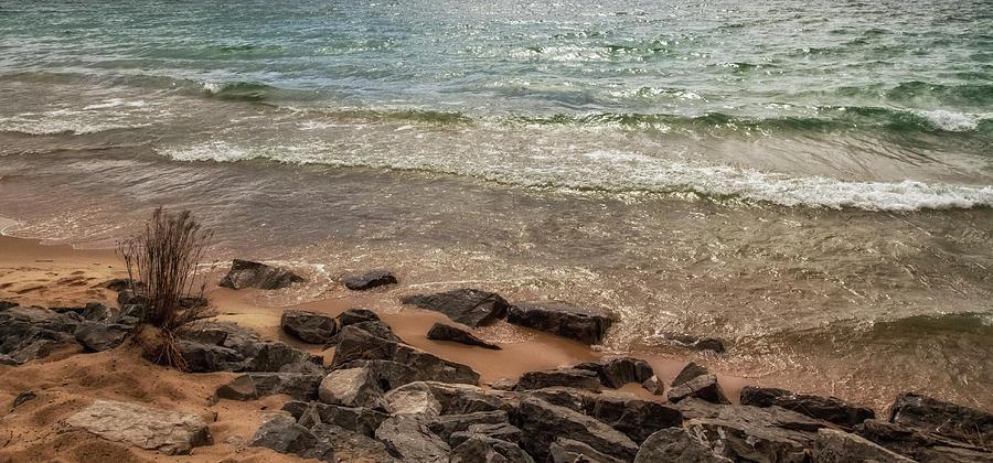 Rocks Photograph - Rocky Shore by Heather Kenward