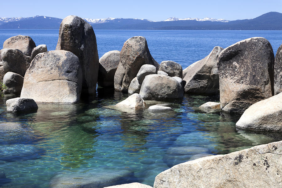 Lake Tahoe Photograph - Rocky Shore by Janet Fikar