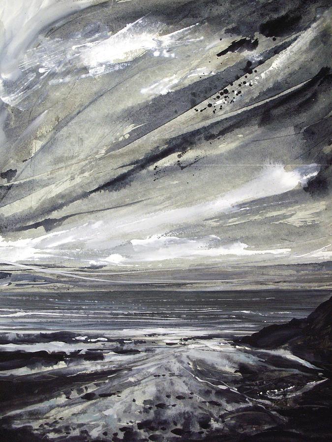 Shoreline Painting - Rocky Shore by Keran Sunaski Gilmore