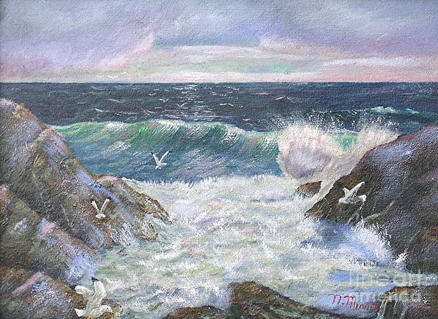 Rocky Shore Painting by Nicholas Minniti