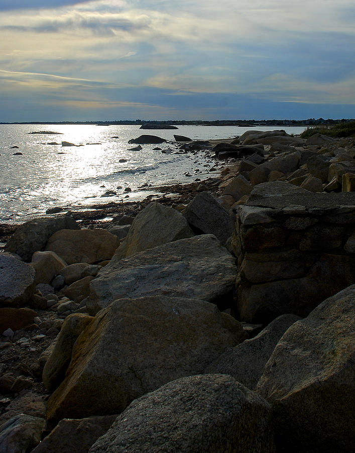 Sunset Photograph - Rocky Shore Sunset by Mark Wiley