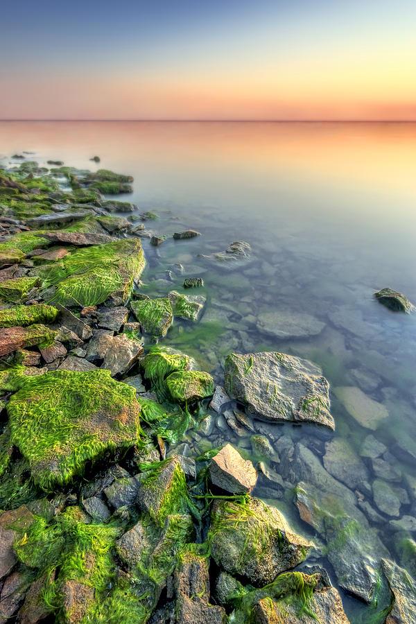 Landscape Photograph - Rocky Shoreline by Ryan Heffron