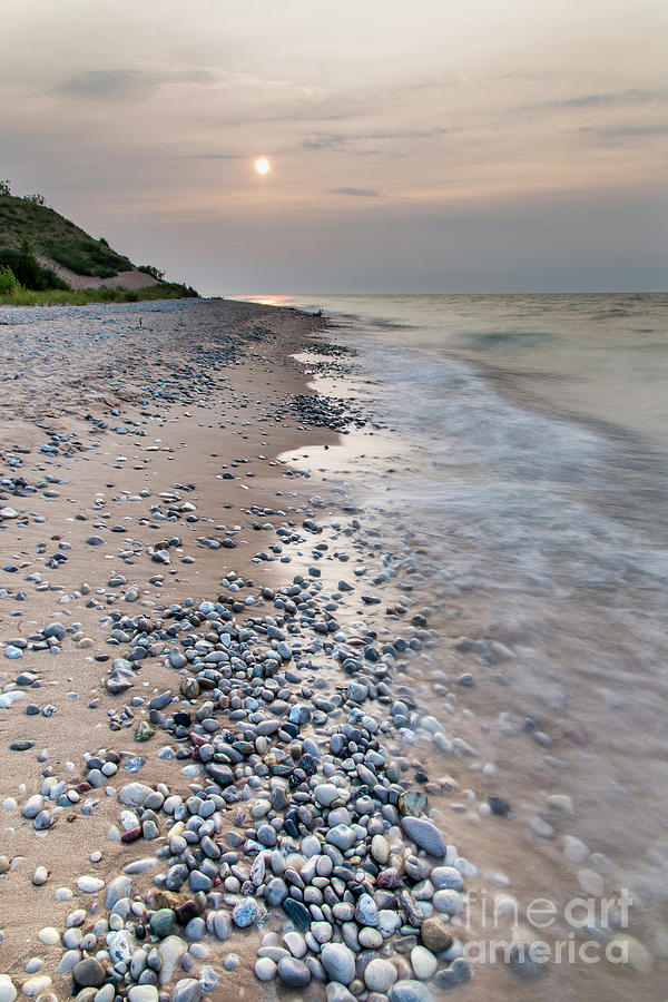 Sleeping Photograph - Rocky Shores at Sleeping Bear Point by Twenty Two North Photography