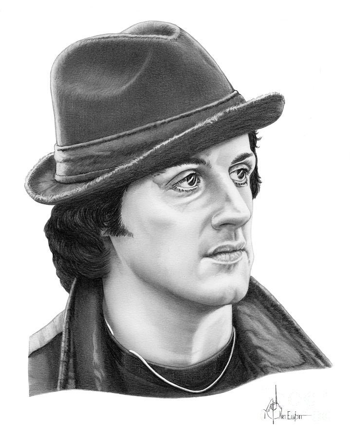 Rocky Sylvester Stallone Drawing By Murphy Elliott