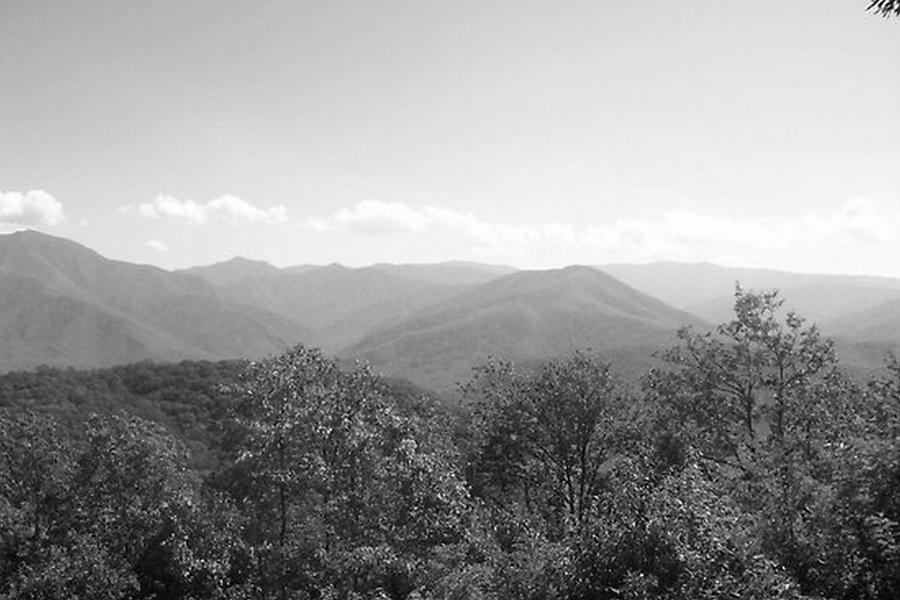 Tennessee Mountains Photograph - Rocky Top Black And White by Paula Ferguson