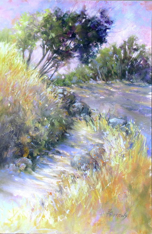Landscape Painting - Rocky Trail by Rae Andrews