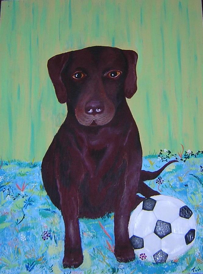 Dog Painting - Rocky by Valerie Josi