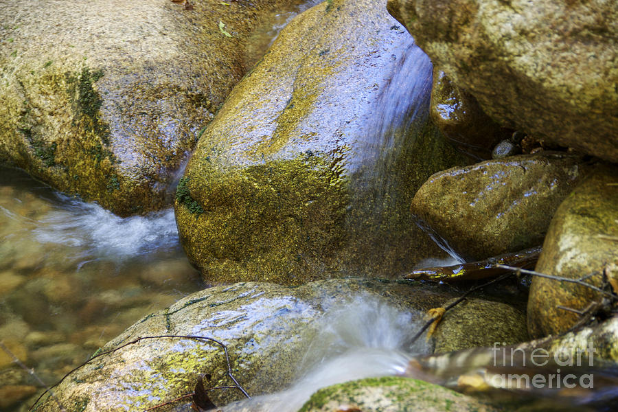 Nh Photograph - Rocky Water Closeup 2 by Michael Mooney