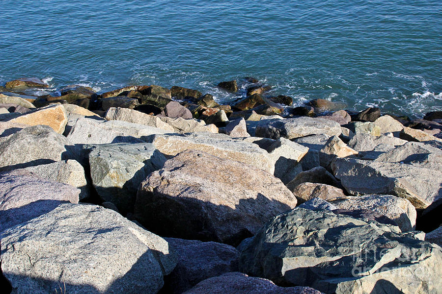 Water Photograph - Rocky Water by Extrospection Art