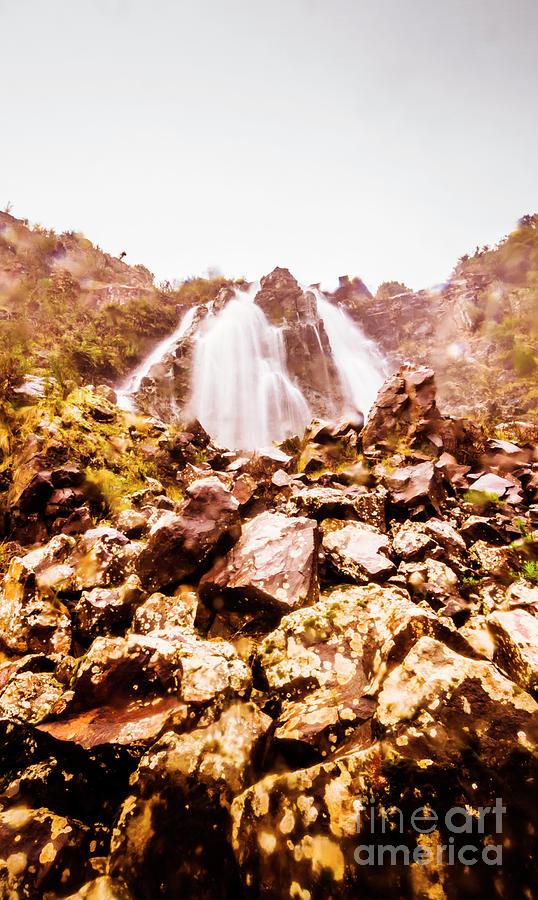 Waterfalls Photograph - Rocky Water Wilderness by Jorgo Photography - Wall Art Gallery
