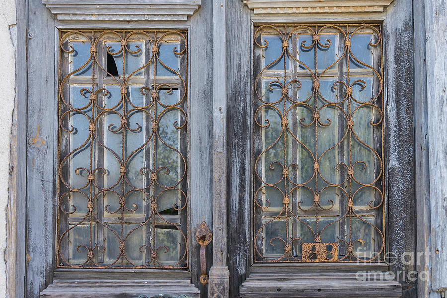 wrought iron window guards security turkey photograph wrought iron window guards by bob phillips
