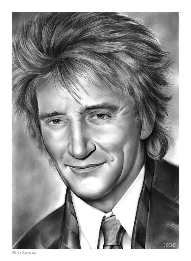 Rod Stewart Drawing