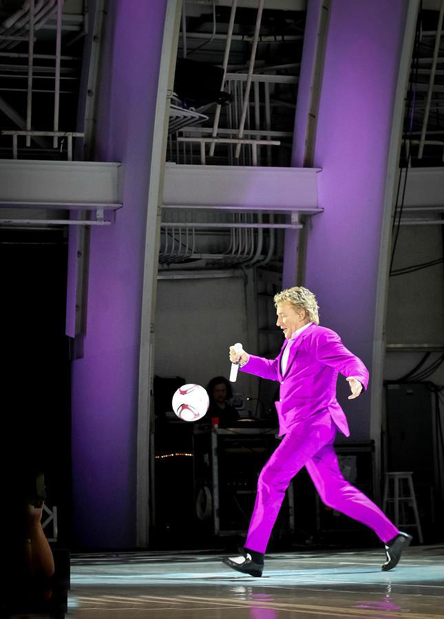 Rod Stewart Photograph - Rod Stewart Soccer Ball by April Reppucci