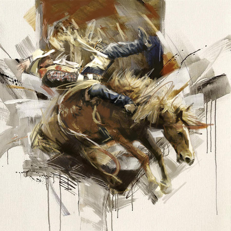 Rodeo Painting - Rodeo 10 by Maryam Mughal