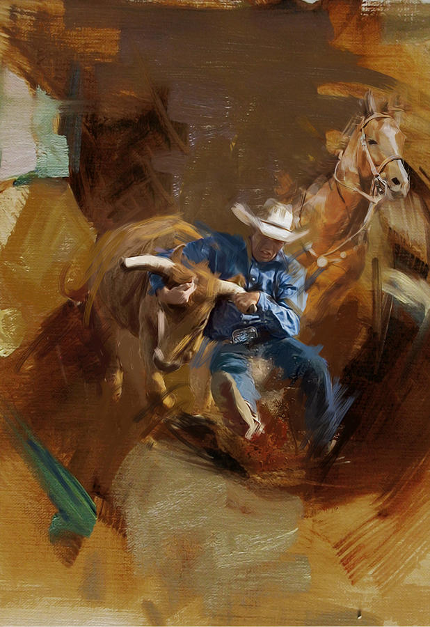 Rodeo Painting - Rodeo 17 by Maryam Mughal