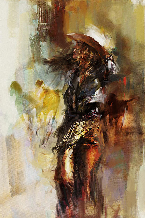 Rodeo Painting - Rodeo 20 by Maryam Mughal