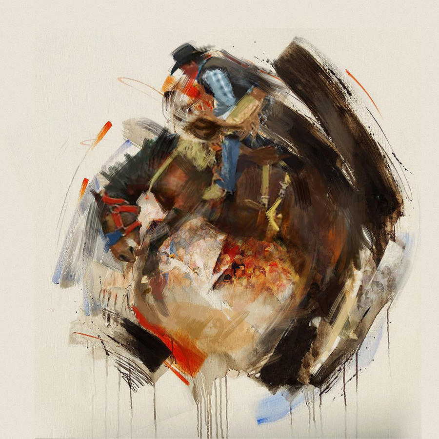 Rodeo Painting - Rodeo 27 by Maryam Mughal