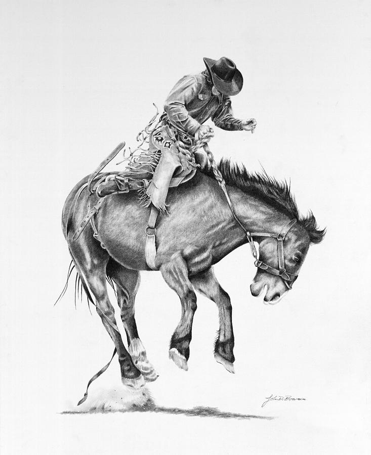 saddle bronc riding coloring pages - photo#31
