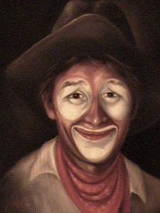 Rodeo Painting - Rodeo Clown by Gordon Sage