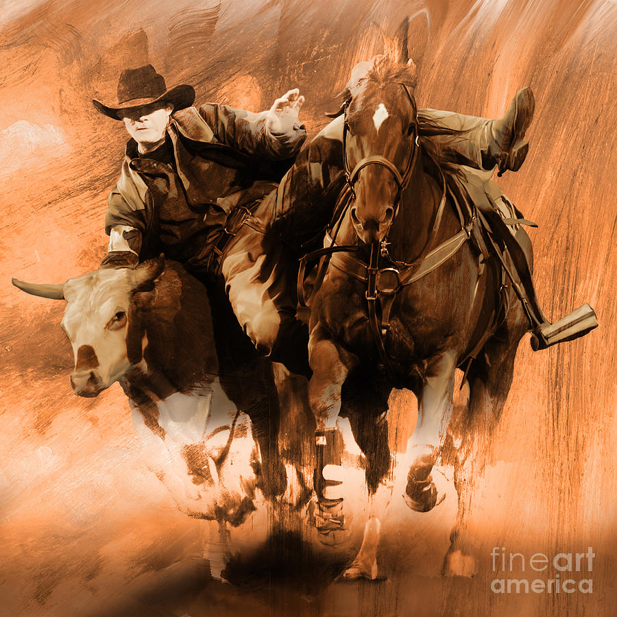 Rodeo Painting - Rodeo Mmn by Gull G