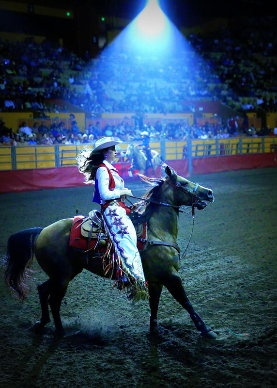 Rodeo Queen Photograph - Rodeo Queen In The Spotlight by John King