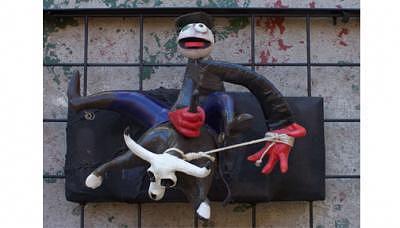 Rodeo Sculpture - Rodeos Kill by Raffaele Spennato