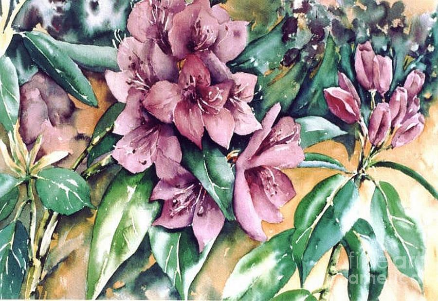 Rododendron Time Painting by Marta Styk