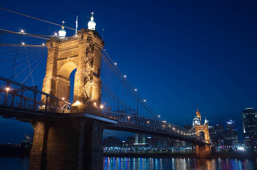 Bridge Photograph - Roebling Bridge by Matt Huff
