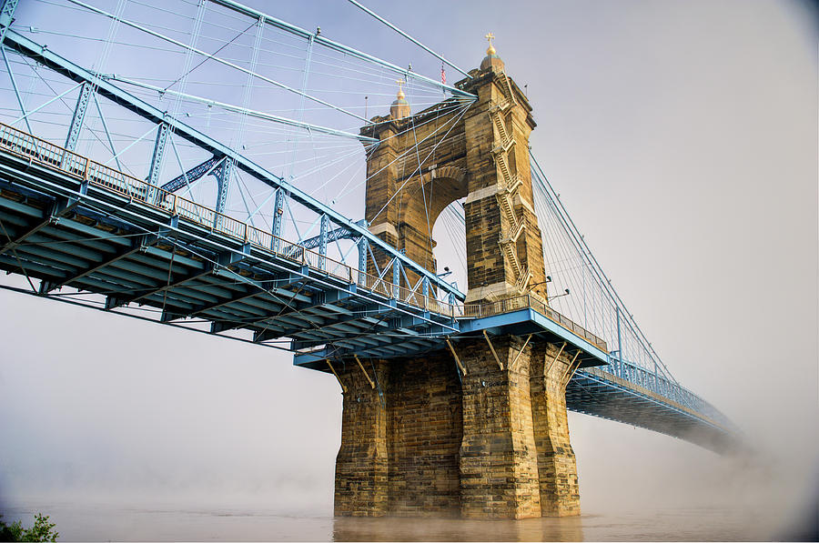 Roebling Suspension Bridge 2 by Rick Hartigan