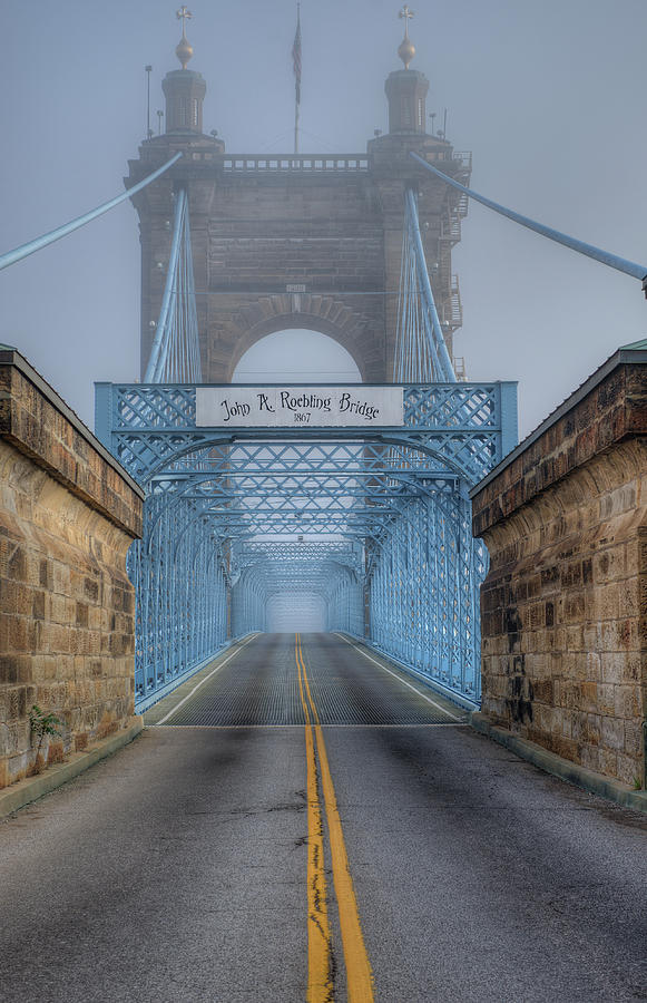 Roebling Suspension Bridge by Rick Hartigan