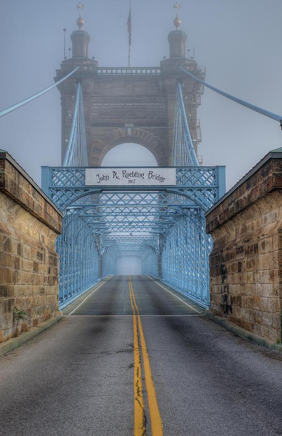 Roebling Suspension Bridge by Rick Hartigan