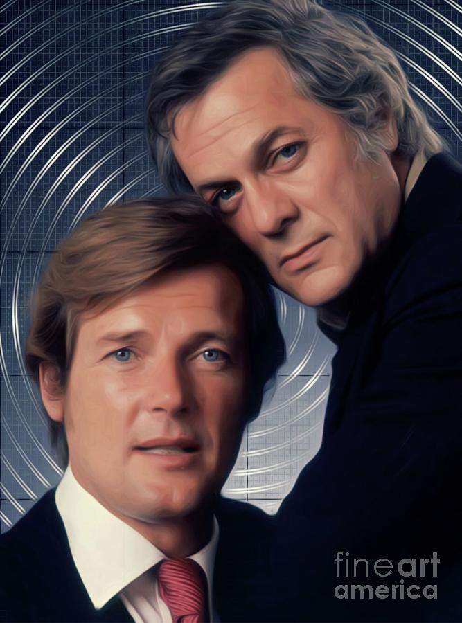 Roger Moore And Tony Curtis, The Persuaders Digital Art
