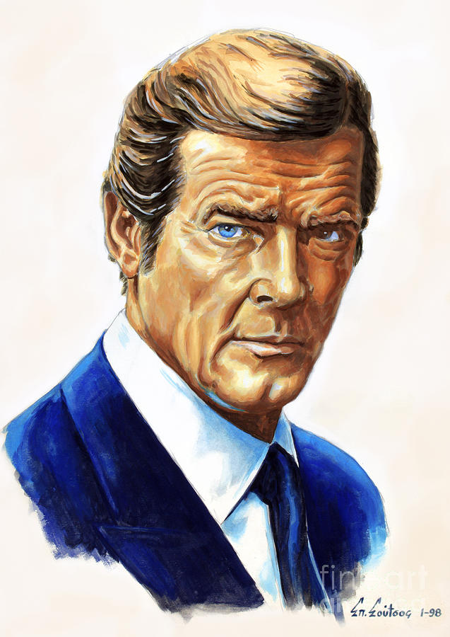 Roger Moore Painting Wall
