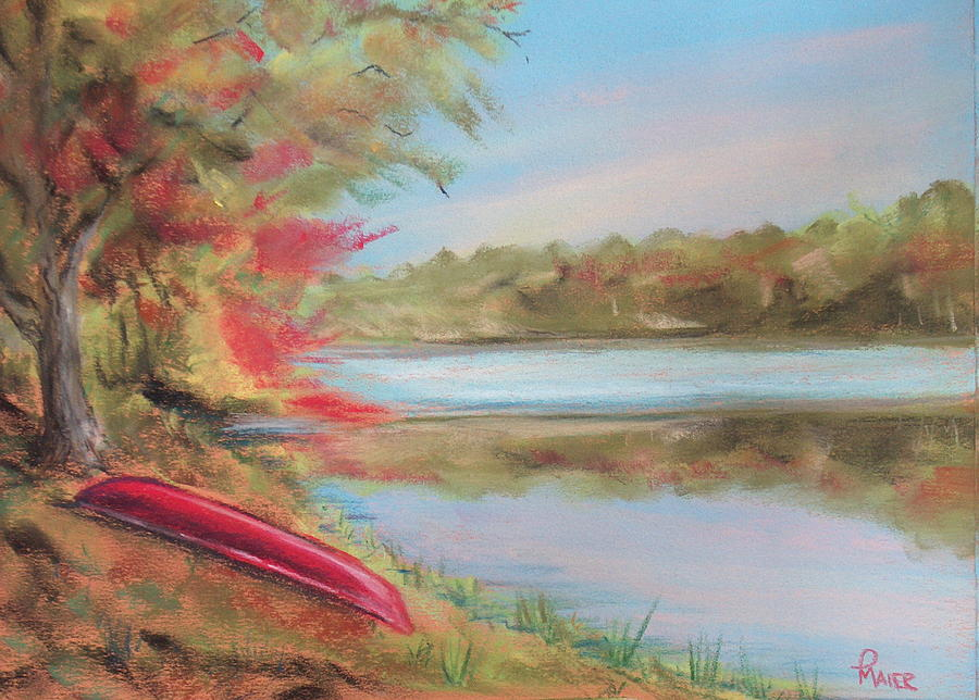 Canoe Painting - Rogue River by Pete Maier